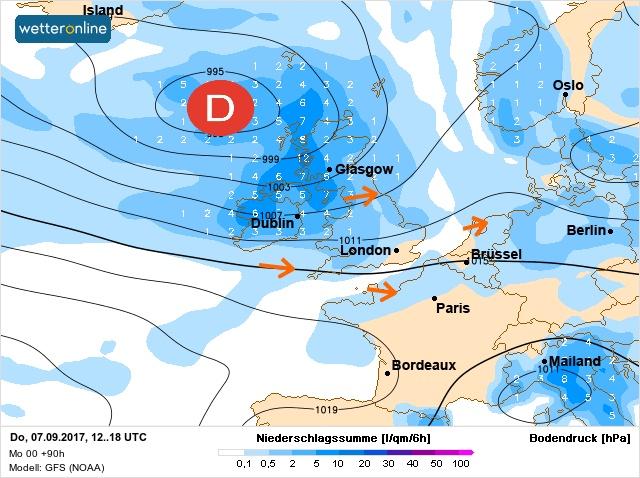 Beaucoup de pluie de vent et de fra cheur partir de samedi 07 septembre 2017 - Meteo rennes samedi ...